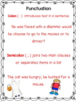 Halloween Fun With Capitals and Punctuation