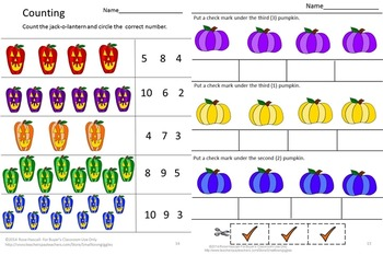 Halloween Color Matching Worksheet Activities Special Education Math