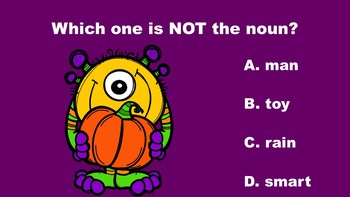 Halloween Fun With Nouns - A PowerPoint Game