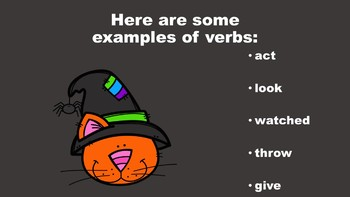 Halloween Fun With Verbs - A PowerPoint Game