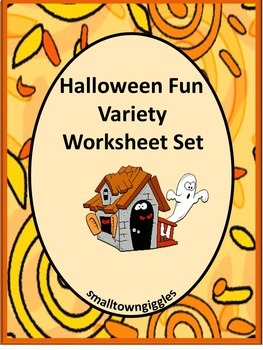 Halloween Math Centers Fine Motor Worksheet P-K,K, Special Education, Autism