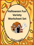 Preschool Kindergarten Halloween Math and Literacy Activities, Special Education