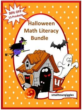 Halloween Bundle NO PREP/LOW PREP Math and Literacy Centers Printables