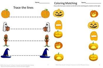 Halloween Bundle Literacy Math Activities Fine Motor Special Education