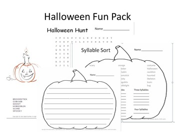 Halloween Fun (as well as Educational) Packet