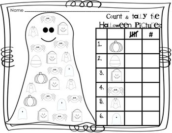 Halloween Activities Reading, Writing and Math Fun for K-1