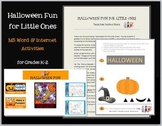 Halloween Fun for Little Ones--MS Word & Internet Activities for Grades K-2