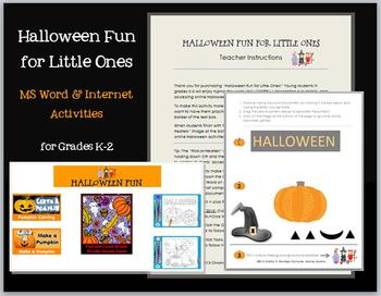 Halloween Fun for Little Ones--MS Word & Internet Activiti