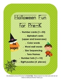 Halloween Fun for Pre-K (numbers, ABC, sequencing, word wall)