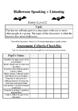 Halloween: Functional Skills Entry Level 2 Speaking + Listening Activity