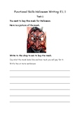 Halloween: Functional Skills Literacy Writing - Entry Level 1