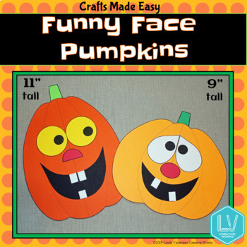 Halloween Craft Funny Pumpkins By Linda Valentino Creative Works