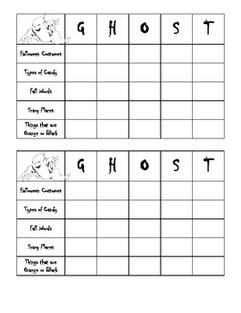 Halloween GHOST Game