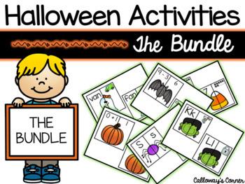 Halloween Matching Madness Activities Bundle