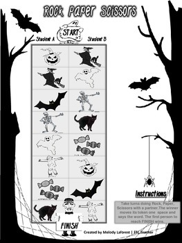 Halloween Game: Rock, Paper, Scissors