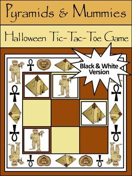 Halloween Game Activities: Pyramids & Mummies Halloween Tic-Tac-Toe Game