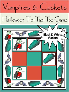 Halloween Game Activities: Vampires & Caskets Halloween Tic-Tac-Toe Game