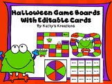 Halloween Game Boards With Editable Cards