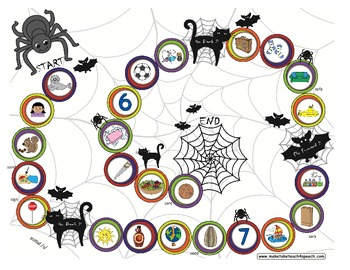 Halloween Game Boards for /s/, /r/ and /l/ Phonemes