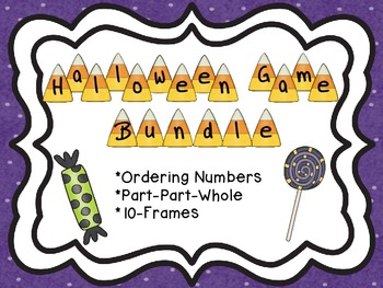 Halloween Game Bundle: Comparing/Ordering, Ten Frames, and Part-Part-Whole