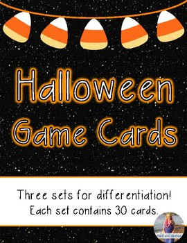 Halloween Literacy Game Cards: Differentiated *FREEBIE*