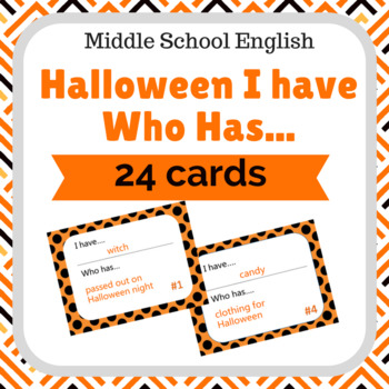 Halloween Game: I Have Who Has Cards
