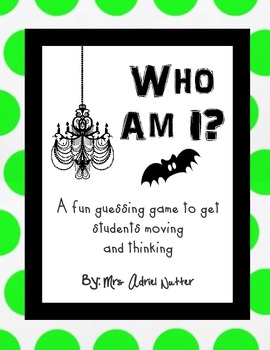Halloween Game - Who Am I? Guessing Game - Any Age