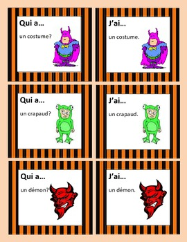 Halloween Game for the WHOLE class in FRENCH-Qui a...J'ai...