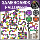 Halloween Gameboard Clip Art Set {Educlips Clipart}