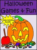 Halloween Games & Fun Halloween Activities Bundle - Color & B/W