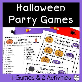 Halloween Party Games & Activities ~ Grades 4-6