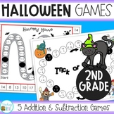 Halloween Math Games for Second Grade