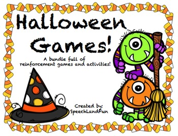 Halloween Games! Reinforcement Activities for all ages!
