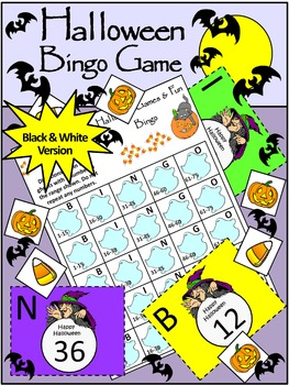 Halloween Games: Halloween Bingo Game Activity Packet