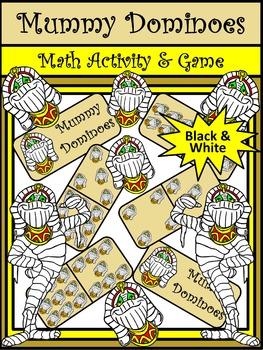 Halloween Games: Mummy Halloween Dominoes Math Game Activity Packet