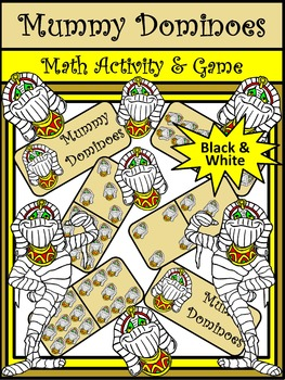 Halloween Games: Mummy Halloween Dominoes Math Game Activi