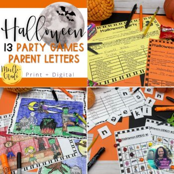 Halloween Activity Pack:  9 Halloween Activities & Party Games & Parent Letters
