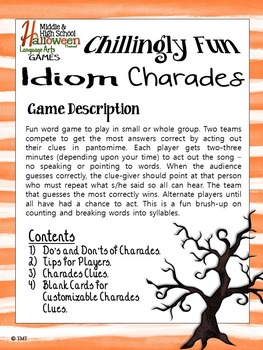 halloween games puzzles sample freebie for middle secondary ela