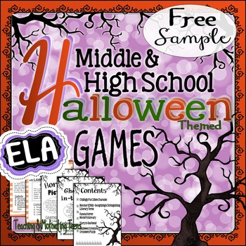 Halloween Games & Puzzles - Sample Freebie for Middle & Se