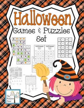 Halloween Games & Puzzles Activity Set Pack