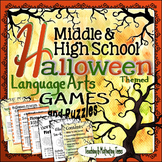 HALLOWEEN Activities - Engaging Games & Puzzles for Grades 8-12