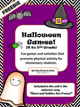 "Halloween Games Unit + ""Ghost and Goblins Jive Freeze!"" song"