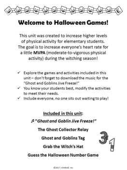 Halloween Games Unit FREEBIE
