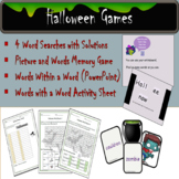 Halloween Games - Words within a Word, Word Searches Memory Game