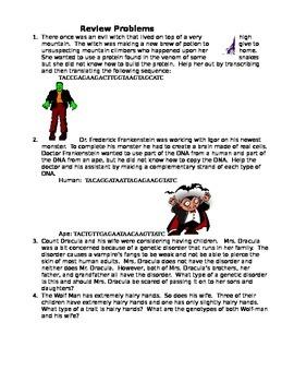 Halloween Genetics Review Problems