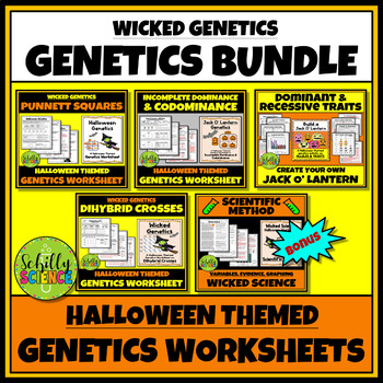 Halloween Genetics Worksheet Bundle