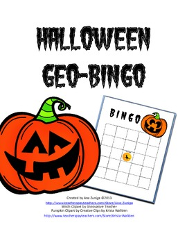 Halloween Geo-Bingo for Geometry