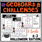 Halloween Geoboard Geometry Challenges - Holiday Task Cards-Fine Motor Skills