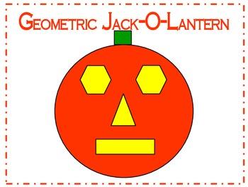 Halloween Geometric Jack-O-Lantern Pumpkin 2D Shapes