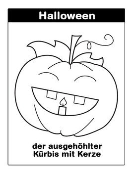 ** Halloween German Coloring Pages **
